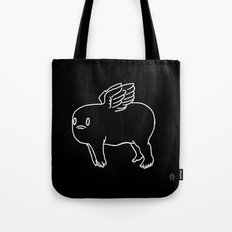 Cherub in Black Tote Bag