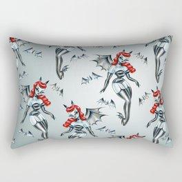 Vampire Bat Pinup Girl Rectangular Pillow