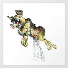 Atropellado Dog Art Print