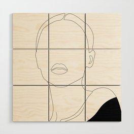 Elegant Woman Portrait Wood Wall Art