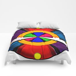 Test Pattern Clock Comforters