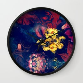SWIM IN SALIVA #1 colorfull Wall Clock