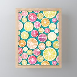 Citrus bath Framed Mini Art Print