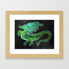 """Dastardly Dragon"" Framed Art Print"