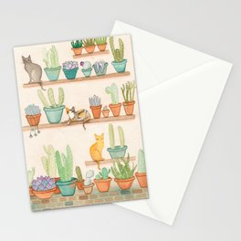 Cats in the Cactus Room Stationery Cards