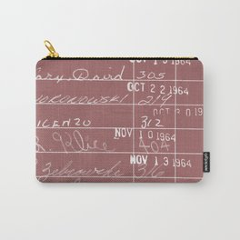 Library Card 23322 Negative Red Carry-All Pouch