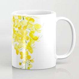 golden shower flower watercolor Coffee Mug