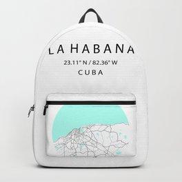 City Map of La Habana, CUBA Backpack