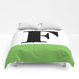 Monogram Letter F (color block) Comforters