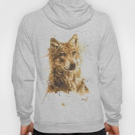 Coffee Wolf Hoody