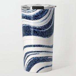Textured Marble - Indigo Blue Travel Mug