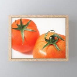 Two tomatoes Framed Mini Art Print