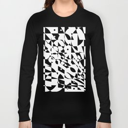 Fractured Structure Long Sleeve T-shirt