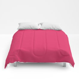 Cerise Pink Solid Color Comforters