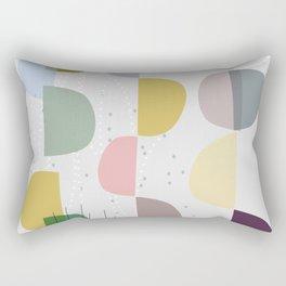 Mid century temporary art VIII Rectangular Pillow