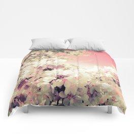 Pink Lavender Flowers Comforters