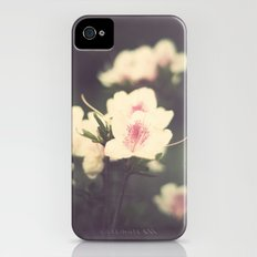 Pink Flowers on Vintage Purple Background  iPhone (4, 4s) Slim Case