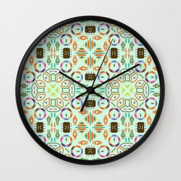 """Seamless pattern in the style of """"printed circuit board"""" Wall Clock"""