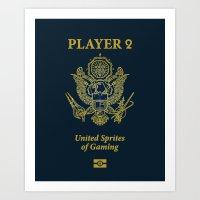 PLAYER 2 USA Art Print