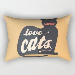 Love Cats Rectangular Pillow