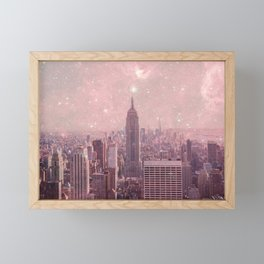 Stardust Covering New York Framed Mini Art Print