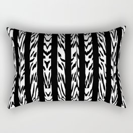 Tribal Black and White Tiger Stripe Pattern Rectangular Pillow