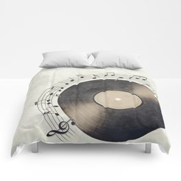 Vinyl Music Collection Comforters