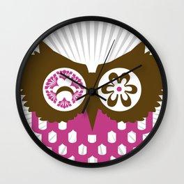 ALMOST SIMETRIC OWL Wall Clock