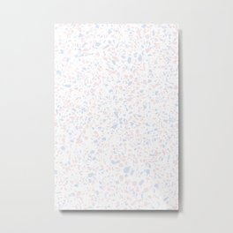 'Speckle Party' Lilac + Pink Dots Speckle Terrazzo Pattern Metal Print