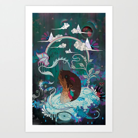 Delicate Distraction Art Print