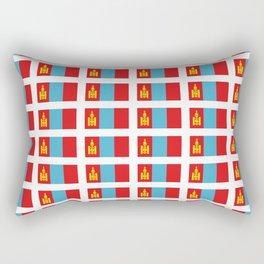 Flag of Mongolia - Monggol Ulus, Mongolian, Монгол Улс,Mongol,Ulaanbaatar Rectangular Pillow