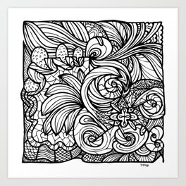 Comfort Garden Art Print