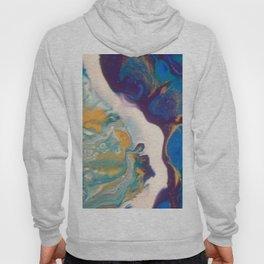 Fluid Nature - Dividing Line - Abstract Acrylic Art Hoody