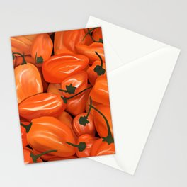 Habanero Peppers Stationery Cards