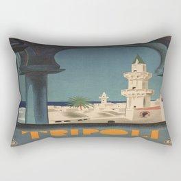 Vintage poster - Tripoli Rectangular Pillow