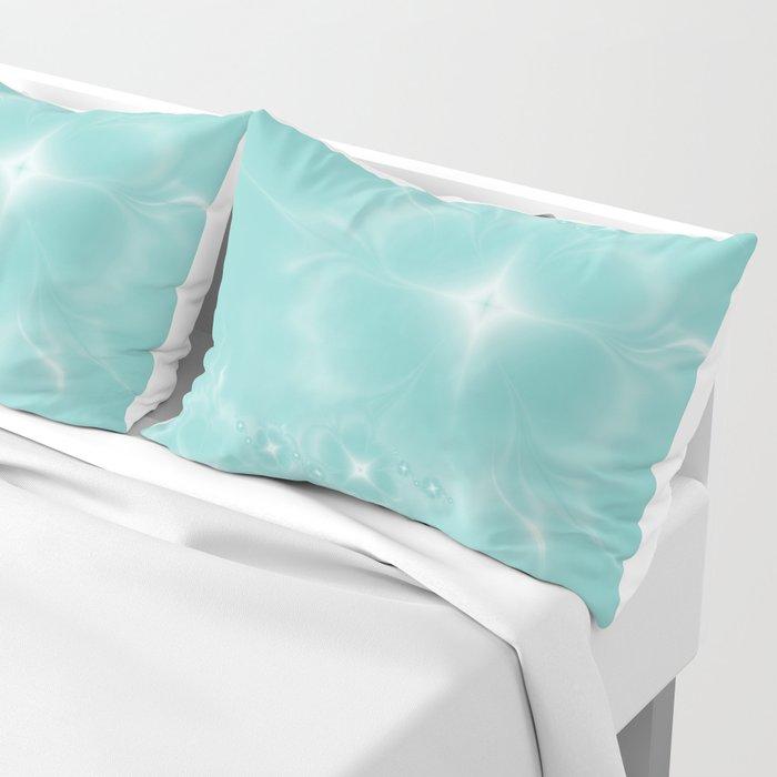 Fleur de Nuit in Aqua Tone Pillow Sham