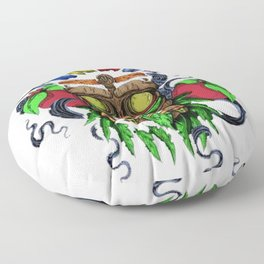 Face in Colors Floor Pillow