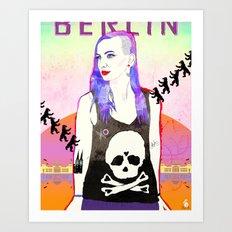 Welcome To BERLIN ||| Willkommen in Berlin Art Print