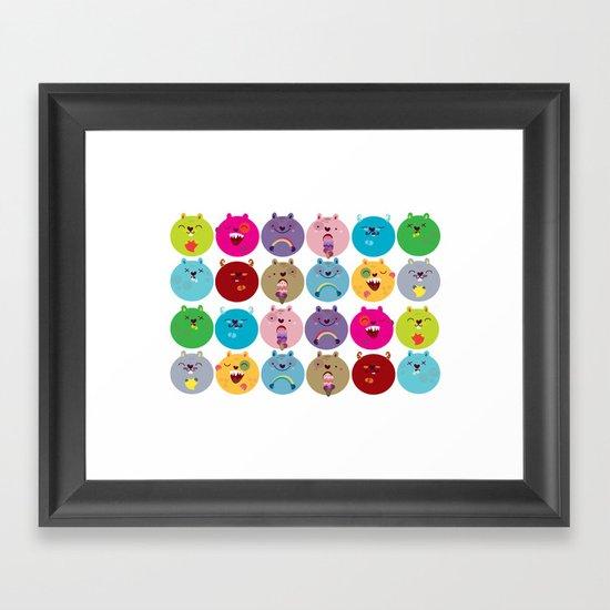 Cute bunnyballs Framed Art Print