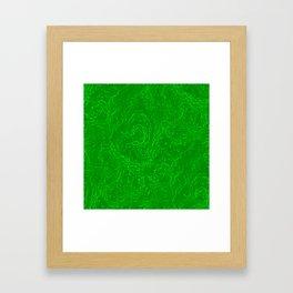 Neon Green Alien DNA Plasma Swirl Framed Art Print