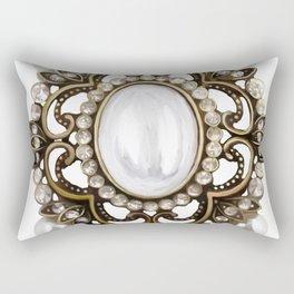 Painted Royal Brosche Rectangular Pillow