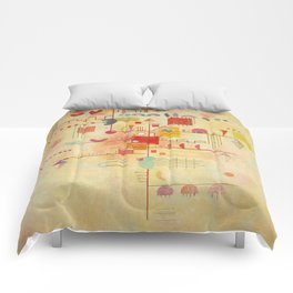 Wassily Kandinsky Graceful Ascent Painting Comforters