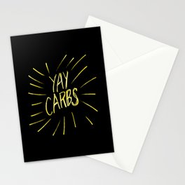 yay carbs Stationery Cards