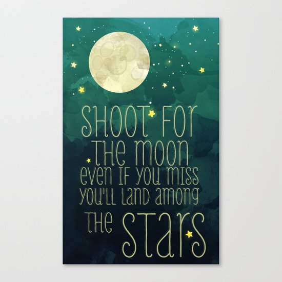 The moon and stars Canvas Print