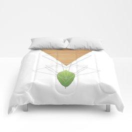 Geometric Leaf Comforters