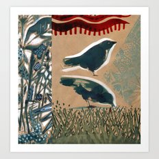Birds on a Summer day. Art Print