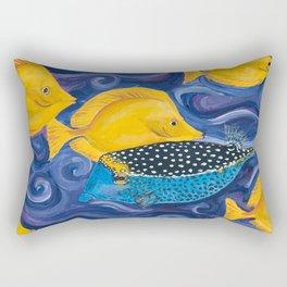 Box fish and Yellow Tang Rectangular Pillow