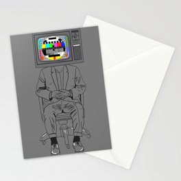Tv Head Stationery Cards