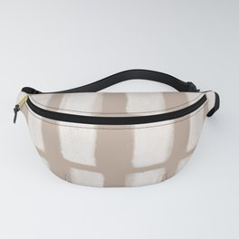 Brush Strokes Vertical Lines Off White on Nude Fanny Pack