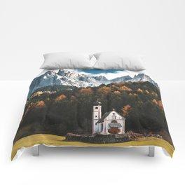 santa maddalena church in val di funes Comforters